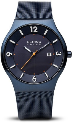 Bering Women's Analogue Solar Powered Watch with Stainless Steel Strap 14440-393