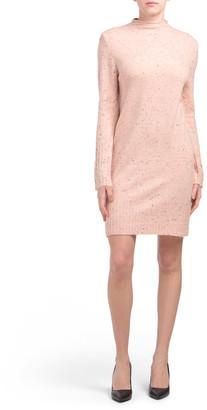 Long Sleeve Mock Neck Sweater Dress