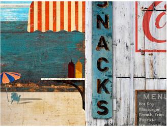 "Red Horse Beach Menu Vintage Wooden Sign, 20""x26"""