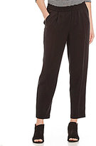 Eileen Fisher Slouchy Ankle Length Solid Twill Pants