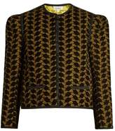Isa Arfen Embroidered velvet jacket