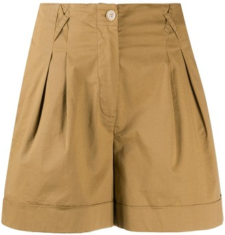 Semi-Couture Pleated High Waist Shorts