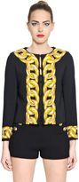 Moschino Chain Printed Techno Crepe Jacket