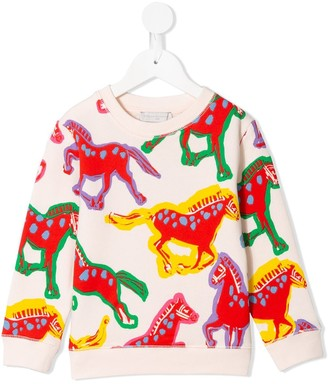 Stella McCartney Kids Horses-Print Sweatshirt