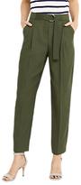 Oasis Luxe Utility Trousers, Khaki