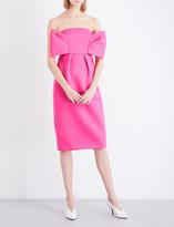 DELPOZO Bow-detailed neoprene dress