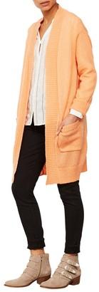 Mint Velvet Boyfriend Cardigan, Light Orange