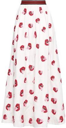 Alice + Olivia Tina Sequin-embellished Satin-crepe Maxi Skirt