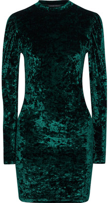 Caroline Constas Lulu Crushed-velvet Mini Dress