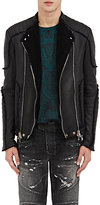 Balmain MEN'S SHEARLING CLASSIC MOTO JACKET