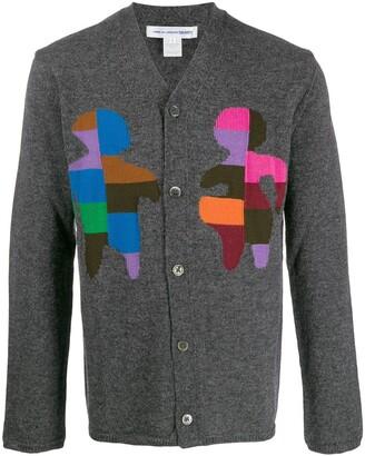 Comme des Garçons Shirt Colour Block Cardigan