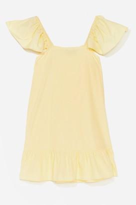 Nasty Gal Womens We Frill See You There Ruffle Mini Dress - Lemon