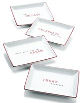 The Cellar Red Sentiments Appetizer Plates, Set of 4, Created for Macy's