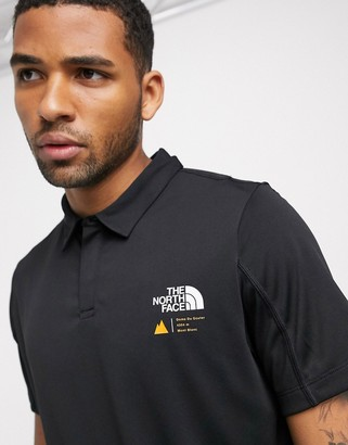 The North Face glacier polo in black