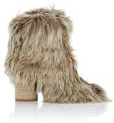 Maison Margiela Women's Alpaca Ankle Boots-BROWN