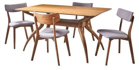 Fabulous Mid Century Dining Set Shopstyle Andrewgaddart Wooden Chair Designs For Living Room Andrewgaddartcom