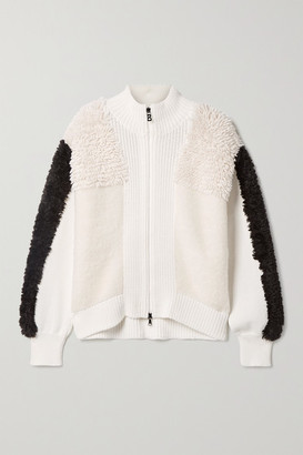 Bogner Magalie Paneled Wool-blend Jacket - Cream