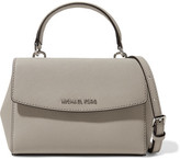 MICHAEL Michael Kors Ava Mini Textured-leather Shoulder Bag - Stone