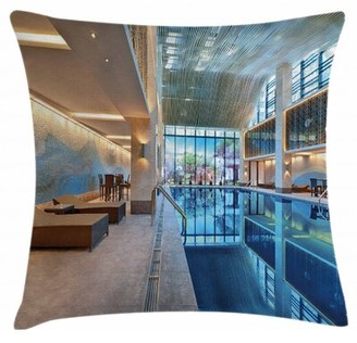 """spa Indoor / Outdoor 36"""" Throw Pillow Cover East Urban Home"""