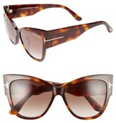 Tom Ford Women's Anoushka 57Mm Special Fit Butterfly Sunglasses - Black/ Gradient Grey Lenses