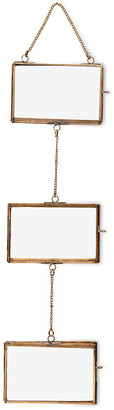 Nkuku Kiko Glass Hanging Garland - Antique Brass