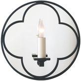 Visual Comfort & Co. Quatrefoil Round Mirrored Sconce, Bronze
