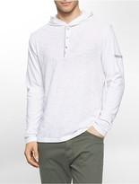 Calvin Klein Logo Snap Slubbed Cotton Hoodie