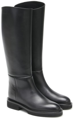 KHAITE Derby leather knee-high boots