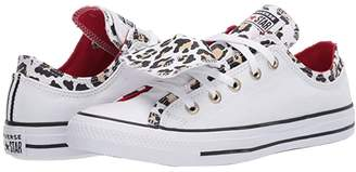 Converse Chuck Taylor All Star Double Upper Leopard - Ox (White/Leopard) Women's Shoes