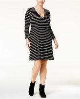 Love Squared Trendy Plus Size Surplice Dress