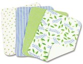 Trend Lab Caterpillar Blooming Bouquet Burp Cloths, Set of 4 by
