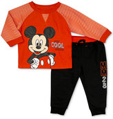 Nannette 2-Pc. Mickey Mouse Top and Pants Set, Baby Boys (0-24 months)