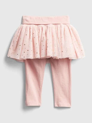 Gap Baby Leggings with Tulle Skirt Trim