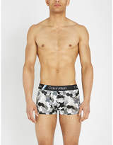 Calvin Klein Drizzle Camo classic-fit stretch-cotton trunks