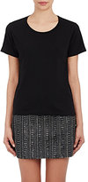 Saint Laurent Women's Distressed T-Shirt-BLACK