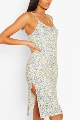 boohoo Ditsy Floral Slip Dress