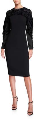 Jason Wu Collection Compact Crepe Raglan-Sleeve Dress