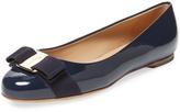 Salvatore Ferragamo Women's Varina Bow Patent Leather Ballet Flat