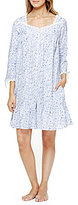 Eileen West Rose-Print Button-Front Robe