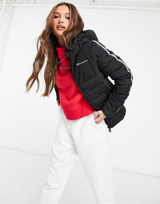Champion padded baffle jacket in black