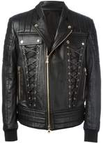 Balmain lace-up biker jacket