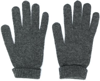 Lamberto Losani Ribbed Knit Detail Gloves