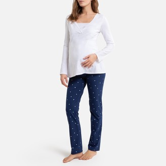 La Redoute Collections Cotton Maternity and Nursing Pyjamas
