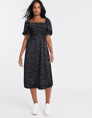 Monki Noelle dress in black