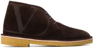 Valentino Garavani logo desert boots