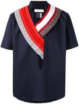 Facetasm knitted collar shirt