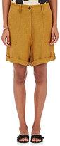 Giada Forte Women's Linen Shorts-YELLOW