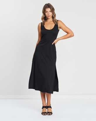 Atmos & Here Atmos&Here - Women's Black Midi Dresses - LOUISE ESSENTIAL MAXI DRESS - Size 6 at The Iconic