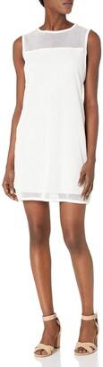 Joan Vass Women's Cotton Mesh Dress