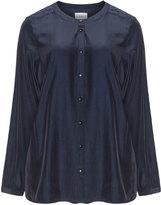 Zizzi Plus Size Silky lace trim blouse